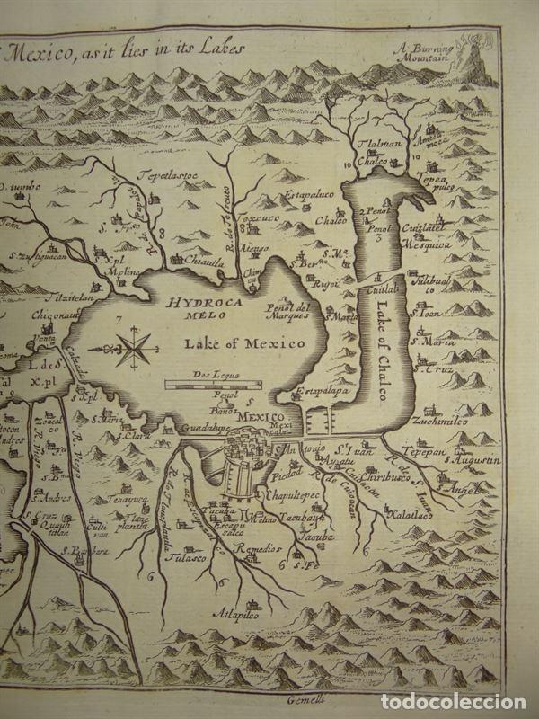 Arte: Plano de la antigua ciudad de México (América), 1744. A. Churchill - Foto 3 - 67941593
