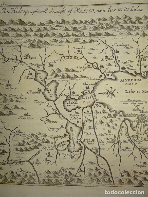 Arte: Plano de la antigua ciudad de México (América), 1744. A. Churchill - Foto 4 - 67941593