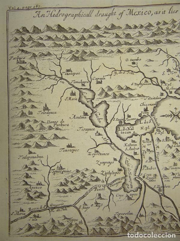 Arte: Plano de la antigua ciudad de México (América), 1744. A. Churchill - Foto 5 - 67941593