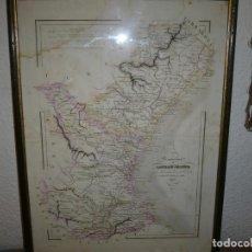 Arte: PROVINCIA DE CASTELLON Y VALENCIA GRABADO 1853 MABERN -MABON .ENMARCADO. Lote 67961585