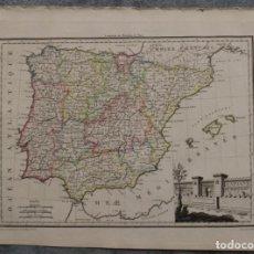 Arte: MAPA DE ESPAÑA Y PORTUGAL, 1812. MALTE- BRUN/LAPIE. Lote 68024177