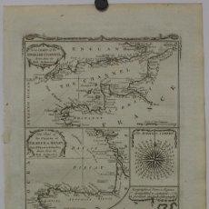 Arte: MAPA ESPAÑA, PORTUGAL Y DEL CANAL DE LA MANCHA, 1782. KITCHIN. Lote 68117941