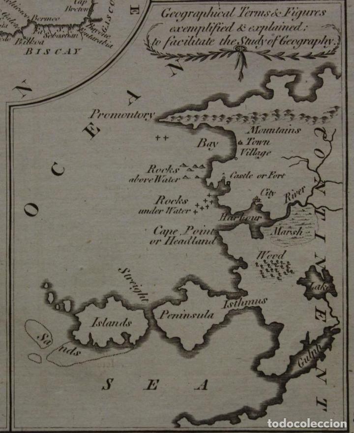 Arte: Mapa España, Portugal y del Canal de la Mancha, 1782. Kitchin - Foto 5 - 68117941