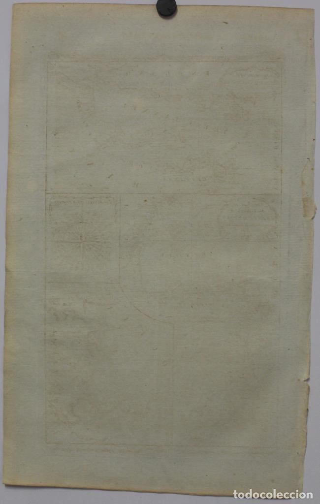 Arte: Mapa España, Portugal y del Canal de la Mancha, 1782. Kitchin - Foto 6 - 68117941