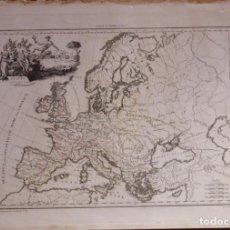 Arte: MAPA DE LA ANTIGUA EUROPA, 1812. MALTE BRUN. Lote 68122989