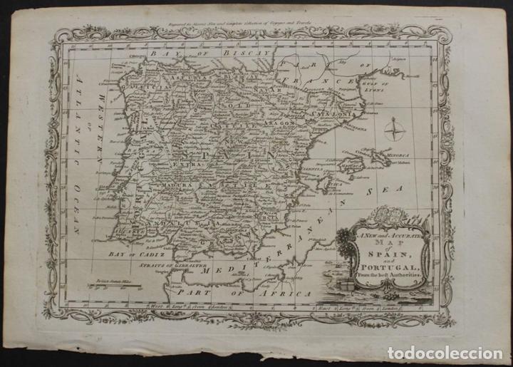 MAPA DE ESPAÑA Y PORTUGAL, 1778. THOMAS CONDER /MOORE (Arte - Cartografía Antigua (hasta S. XIX))