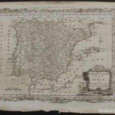 Arte: MAPA DE ESPAÑA Y PORTUGAL, 1778. THOMAS CONDER /MOORE. Lote 68128689