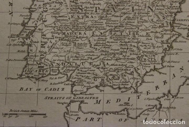 Arte: Mapa de España y Portugal, 1778. Thomas Conder /Moore - Foto 3 - 68128689