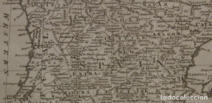 Arte: Mapa de España y Portugal, 1778. Thomas Conder /Moore - Foto 4 - 68128689