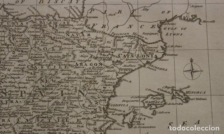 Arte: Mapa de España y Portugal, 1778. Thomas Conder /Moore - Foto 5 - 68128689