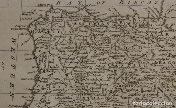 Arte: Mapa de España y Portugal, 1778. Thomas Conder /Moore - Foto 6 - 68128689