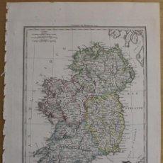 Arte: MAPA DE IRLANDA, 1812. MALTE BRUN. Lote 68206897