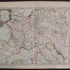 Arte: MAPA DEL IMPERIO DE CARLOMAGNO (FRANCIA), 1765. DESNOS. Lote 68242065