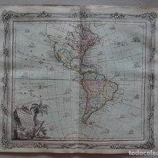 Arte: MAPA DE AMÉRICA, 1766. BRION DE LA TOUR/DESNOS. Lote 68654457
