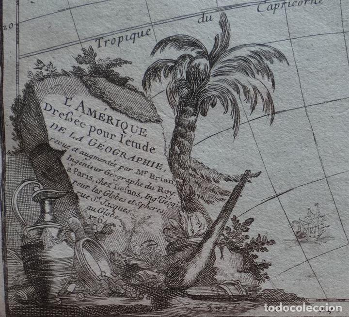 Arte: Mapa de América, 1766. Brion de la Tour/Desnos - Foto 2 - 68654457