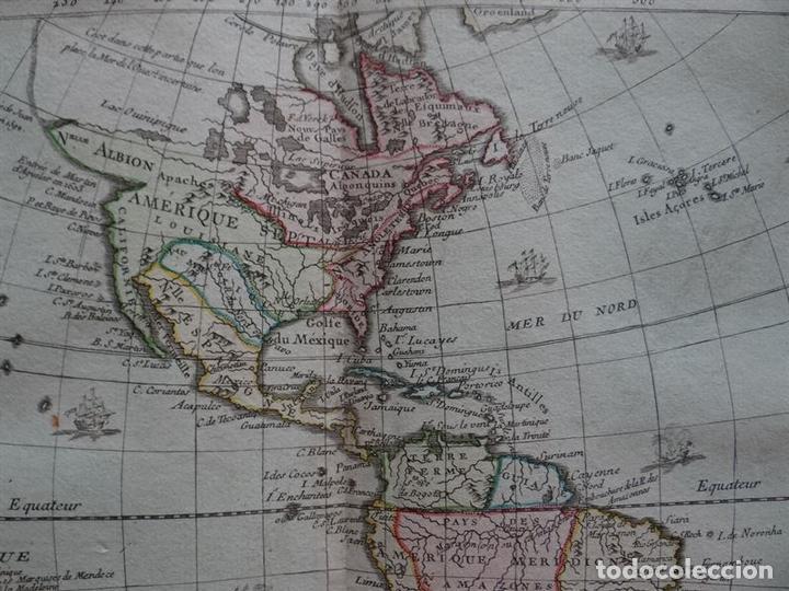 Arte: Mapa de América, 1766. Brion de la Tour/Desnos - Foto 3 - 68654457