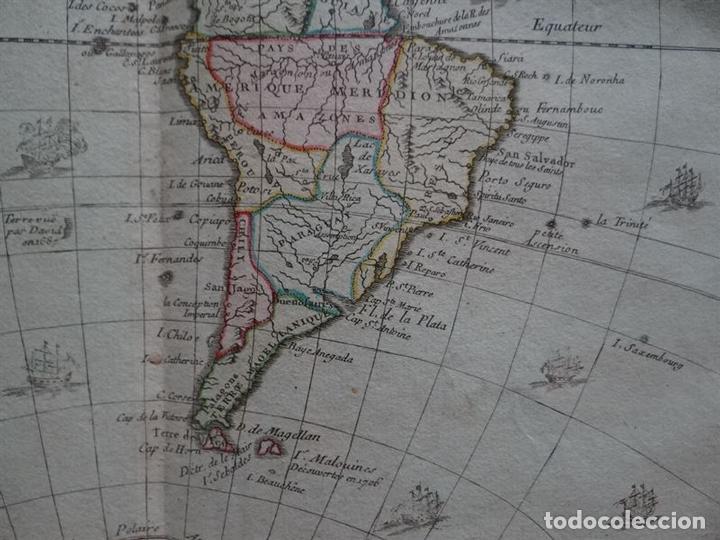 Arte: Mapa de América, 1766. Brion de la Tour/Desnos - Foto 4 - 68654457