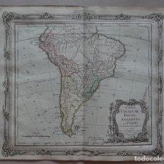 Arte: MAPA DE AMÉRICA DEL SUR, 1766. BRION DE LA TOUR/ DESNOS. Lote 68654793