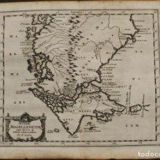 Arte: MAPA DEL ESTRECHO DE MAGALLANES Y TIERRA DE FUEGO (ARGENTINA-CHILE), 1657. SANSON. Lote 68738177