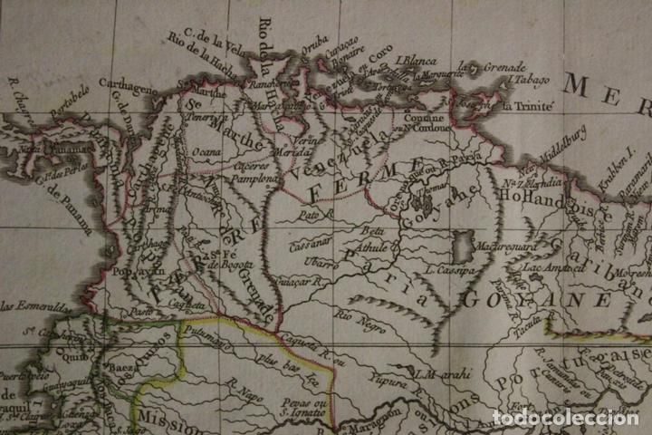 Arte: Mapa de Brasil, Colombia, Venezuela,.. 1762. Vaugondy/Arrivet - Foto 3 - 68833693