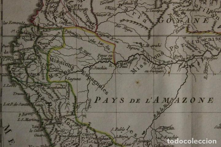 Arte: Mapa de Brasil, Colombia, Venezuela,.. 1762. Vaugondy/Arrivet - Foto 4 - 68833693