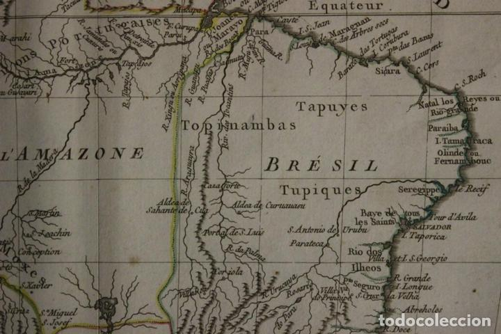 Arte: Mapa de Brasil, Colombia, Venezuela,.. 1762. Vaugondy/Arrivet - Foto 6 - 68833693