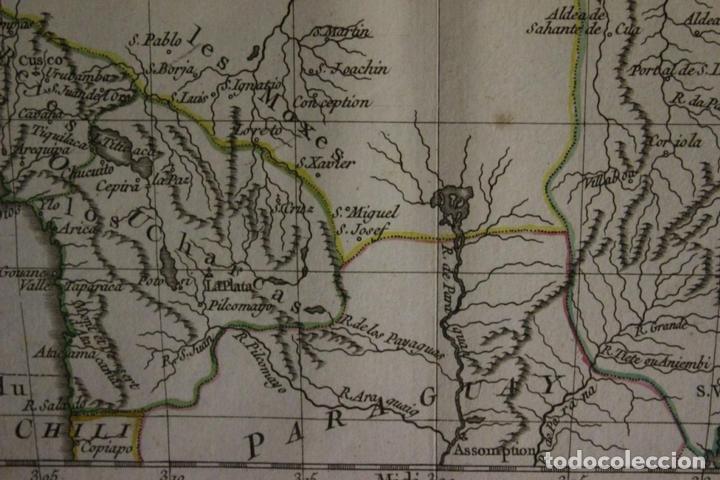 Arte: Mapa de Brasil, Colombia, Venezuela,.. 1762. Vaugondy/Arrivet - Foto 8 - 68833693