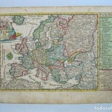 Arte: MAPA DEL CONTINENTE EUROPEO, 1750. SCHREIBER. Lote 68995269