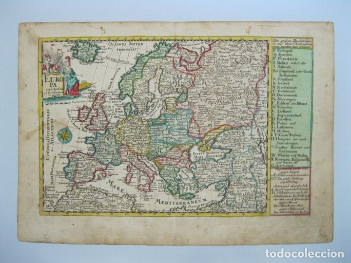 Arte: Mapa del continente europeo, 1750. Schreiber - Foto 2 - 68995269