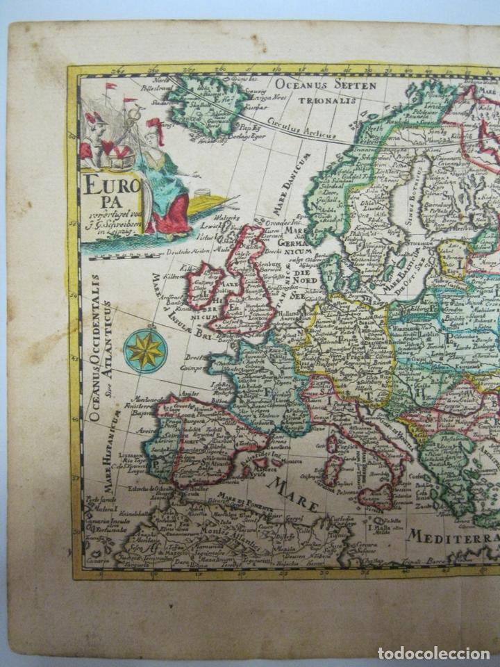 Arte: Mapa del continente europeo, 1750. Schreiber - Foto 4 - 68995269