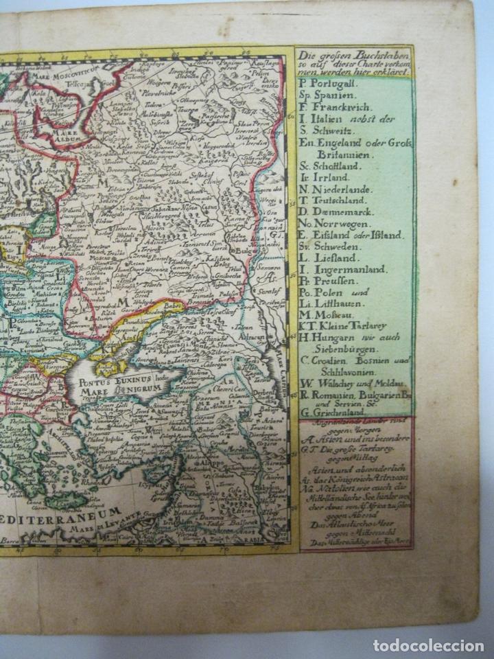 Arte: Mapa del continente europeo, 1750. Schreiber - Foto 5 - 68995269