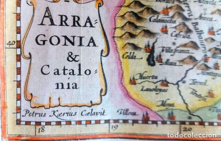 Arte: Mapa antiguo Cataluña y Aragón con certif. autent. año 1632 . Mapas antiguos Aragón y Cataluña - Foto 2 - 69011337