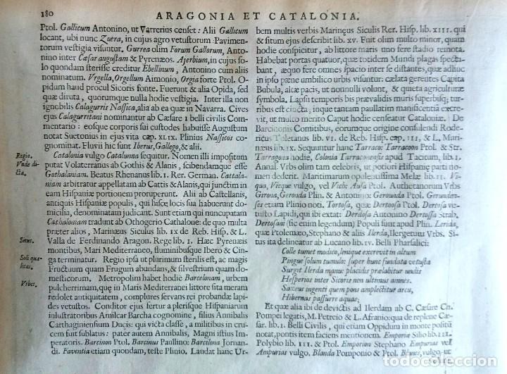 Arte: Mapa antiguo Cataluña y Aragón con certif. autent. año 1632 . Mapas antiguos Aragón y Cataluña - Foto 4 - 69011337