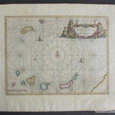 Arte: ISLAS CANARIAS, MAPA MUY RARO DE OGILBY/DAPPER (AÑO 1670), INSULAE CANARIAE ALIAS FORTUNATE DICTAE. Lote 69263737