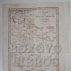 Art: CARTE DU VOYAGE DE CATHERINE H. DANS LA CRIMÉE EN 1787. GRAVÉE SUR ACIER PAR PIERRE TARDIEU. Lote 68814095