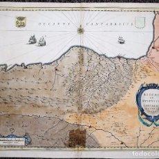 Arte - Biscaia et Guipuscoa - Cantabria Veteris Pars. Mapa de Euskadi, Pais Vasco y Santander. Willem Blaeu - 70138169