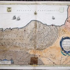 Arte: BISCAIA ET GUIPUSCOA - CANTABRIA VETERIS PARS. MAPA DE EUSKADI, PAIS VASCO Y SANTANDER. WILLEM BLAEU. Lote 70138169