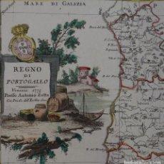 Arte: MAPA DE PORTUGAL, 1775. ZATTA. Lote 70351481