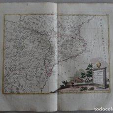 Arte: MAPA DE CATALUÑA, ARAGÓN, NAVARRA... (ESPAÑA)I, 1776. ZATTA. Lote 70365841