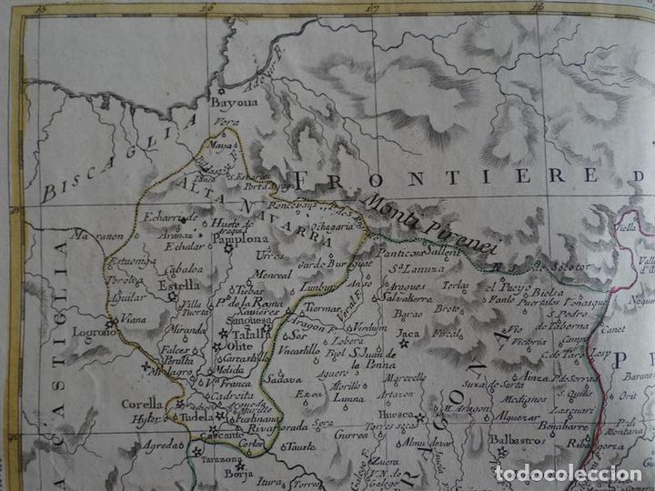 Arte: Mapa de Cataluña, Aragón, Navarra... (España)I, 1776. Zatta - Foto 3 - 70365841