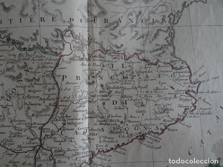 Arte: Mapa de Cataluña, Aragón, Navarra... (España)I, 1776. Zatta - Foto 6 - 70365841