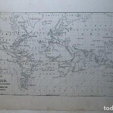Arte: MAPA DEL MUNDO, 1848. BERGHAUS. Lote 70455201
