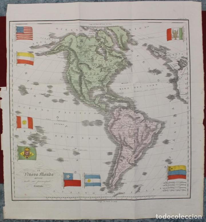 MAPA DE AMÉRICA, 1838. FRANCESCO MARMOCCHI (Arte - Cartografía Antigua (hasta S. XIX))