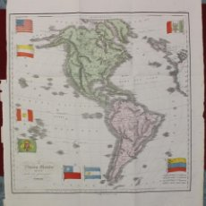 Arte: MAPA DE AMÉRICA, 1838. FRANCESCO MARMOCCHI. Lote 70455605