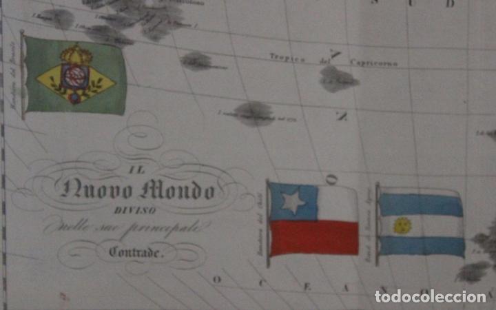 Arte: Mapa de América, 1838. Francesco Marmocchi - Foto 2 - 70455605