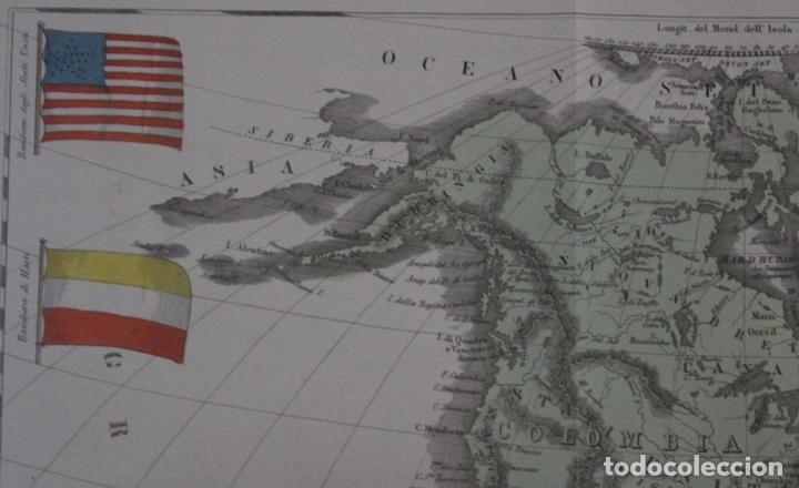 Arte: Mapa de América, 1838. Francesco Marmocchi - Foto 3 - 70455605