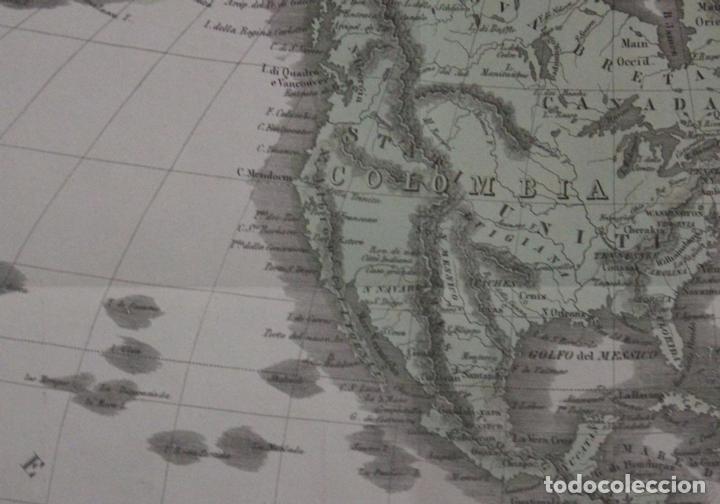 Arte: Mapa de América, 1838. Francesco Marmocchi - Foto 8 - 70455605