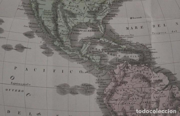 Arte: Mapa de América, 1838. Francesco Marmocchi - Foto 10 - 70455605