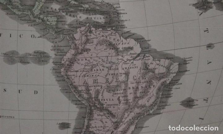 Arte: Mapa de América, 1838. Francesco Marmocchi - Foto 11 - 70455605