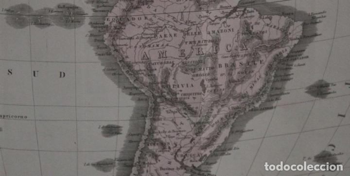 Arte: Mapa de América, 1838. Francesco Marmocchi - Foto 12 - 70455605